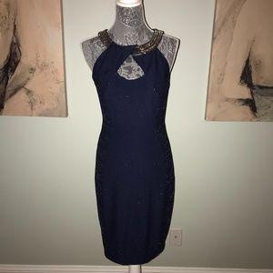 Bodycon Midnight Blue Sequin Cocktail Dress JAX